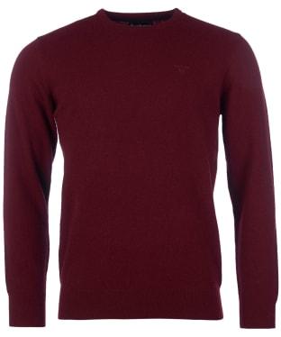 Men's Barbour Essential Lambswool Crew Neck Sweater - Ruby