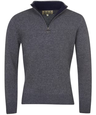 Men's Barbour Nelson Half Zip Sweater - Storm Grey
