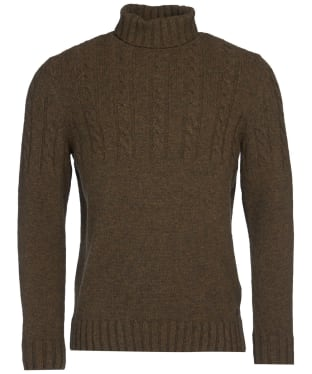Men's Barbour Duffle Cable Crew Sweater - Willow Green