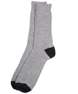 Men's Barbour Houghton Socks - Grey / Black