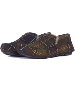 Men's Barbour Monty House Slippers - Classic Tartan
