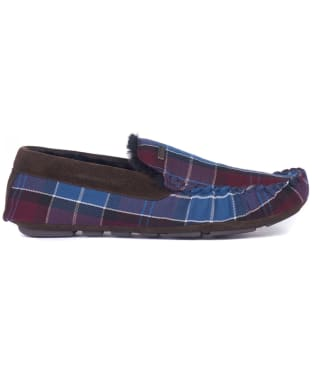 Men's Barbour Monty House Slippers - Malbec Tartan