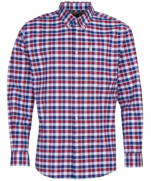 Men's Barbour Country Check 15 Regular Shirt - Rich Red Check