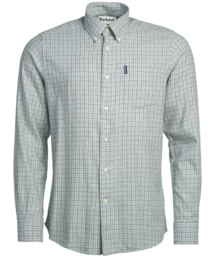 Men's Barbour Eco 4 Tailored Shirt - Grey Marl Check