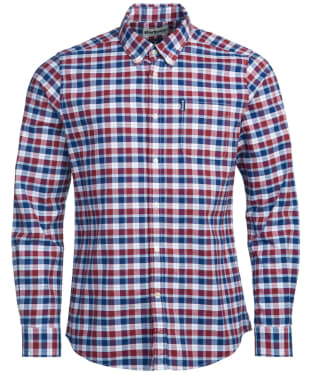 Men's Barbour Country Check 15 Tailored Shirt - Rich Red Check