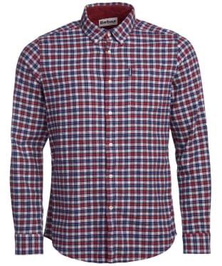 Men's Barbour Country Check 12 Tailored Shirt - Rich Red Check