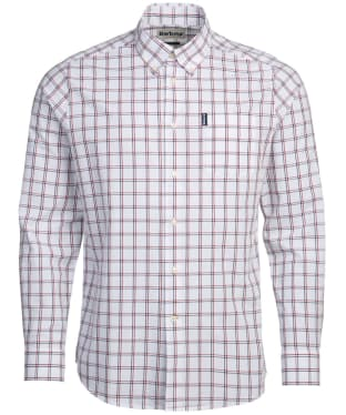 Men's Barbour Tattersall 21 Tailored Shirt - Red Check