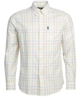 Men's Barbour Tattersall 20 Tailored Shirt - Gold Check