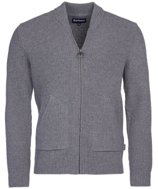 Men's Barbour Gillespie Zip Thru Knit - Grey Marl