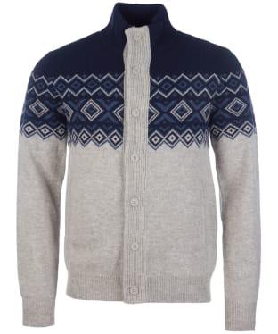 Men's Barbour Kirk Button Through Sweater - Navy