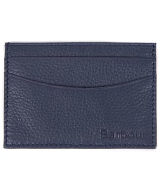 Men's Barbour Amble Leather Card Holder - Navy / Classic