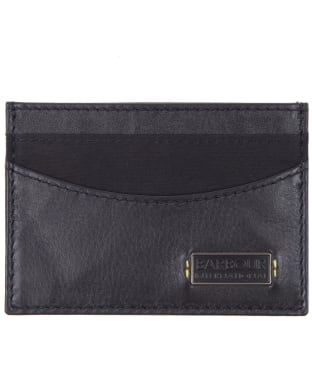 Men's Barbour International Waxed Leather Cardholder - Black