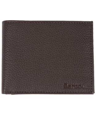 Men's Barbour Amble Leather I.D. Wallet - Dark Brown