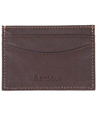 Men's Barbour Elvington Leather Cardholder - Brown / Tan