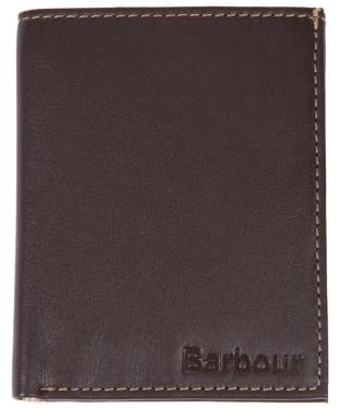 Men's Barbour Elvington Small Leather Wallet - Brown / Tan