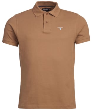 Men's Barbour Tartan Pique Polo Shirt - Sandstone