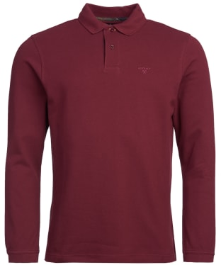Men's Barbour L/S Sports Polo Shirt - Bordeaux