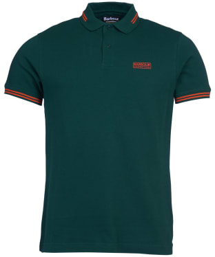 Men's Barbour International Essential Tipped Polo Shirt - Seaweed