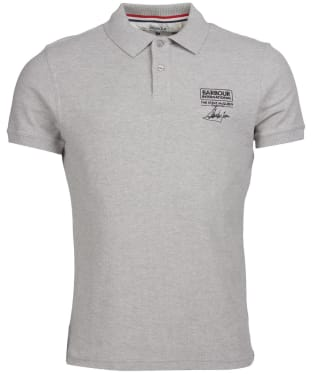 Men's Barbour International Steve McQueen Chad Polo Shirt - Grey Marl