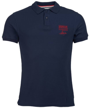 Men's Barbour International Steve McQueen Chad Polo Shirt - Navy