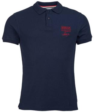 Men's Barbour International Steve McQueen Chad Polo Shirt - Navy
