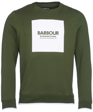 Men's Barbour International Scortch Crew Neck Sweater - Strong Olive