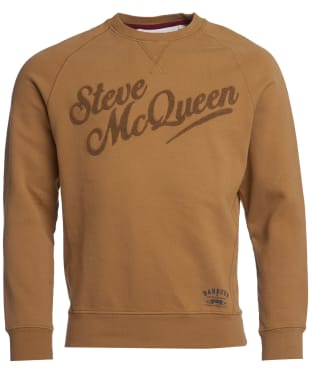 Men's Barbour International Steve McQueen Doc Sweater - Camel