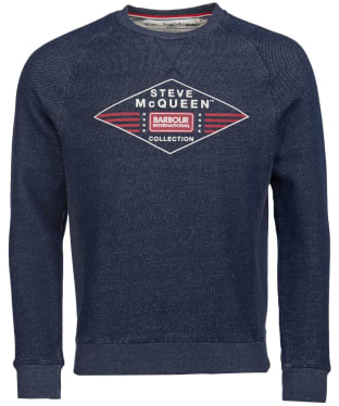 Men's Barbour International Steve McQueen Application Sweater - Navy