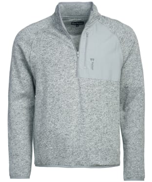 Men's Barbour Liam Half Zip Sweater - Grey Marl