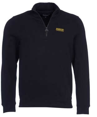 Men's Barbour International Essential Half Zip Sweater - Black