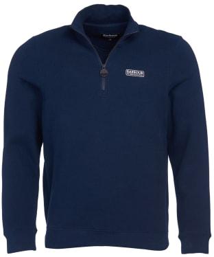 Men's Barbour International Essential Half Zip Sweater - International Navy