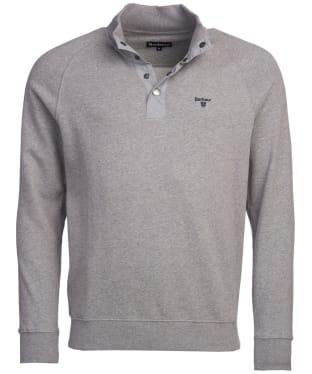 Men's Barbour Half Zip Sweater - Grey Marl