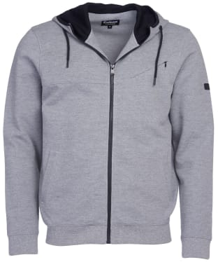 Men's Barbour International Frame Hoodie - Anthracite Marl