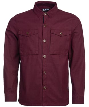 Men's Barbour Thermo Overshirt - Merlot
