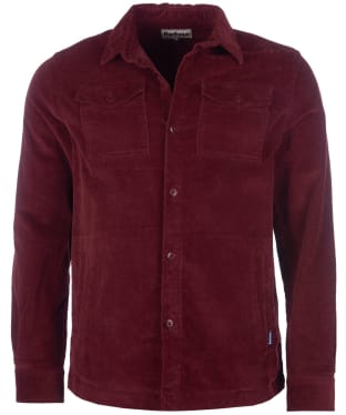 Men's Barbour Cord Overshirt - Ruby