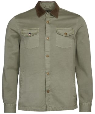 Men's Barbour International Steve McQueen Aken Overshirt - Dusty Olive