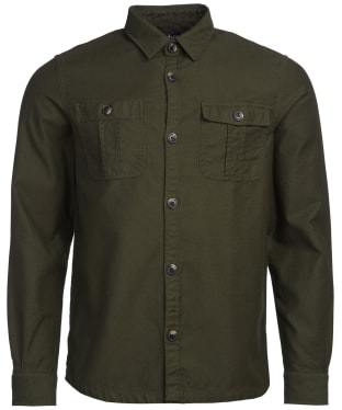 Men's Barbour Wingate Overshirt - Bleached Olive