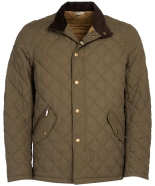 Men's Barbour Shoveler Quilted Jacket - Army Green