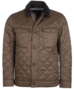 Men's Barbour Maesbury Quilted Jacket - Darkest Olive