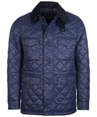 Men's Barbour Dorped Quilted Jacket - Navy