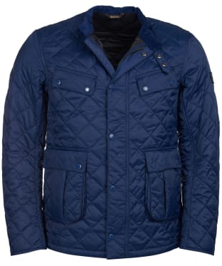 Men's Barbour International Coloured Ariel Quilted Jacket - Royal Navy