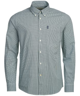 Men's Barbour Gingham 10 Tailored Shirt - Racing Green