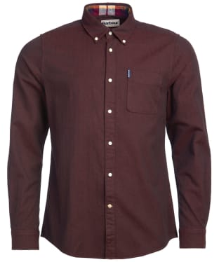 Men's Barbour Herringbone 1 Tailored Shirt - Merlot