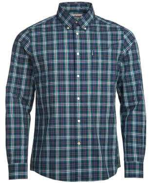 Men's Barbour Highland Check 8 Tailored Shirt - Forest Check