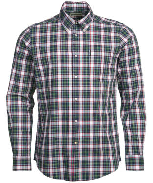Men's Barbour Highland Check 8 Tailored Shirt - Navy Check