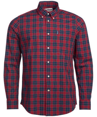 Men's Barbour Highland Check 8 Tailored Shirt - Crimson Check