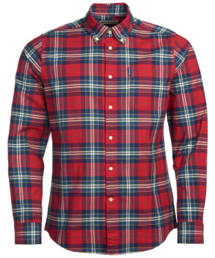 Men's Barbour Highland Check 11 Tailored Shirt - Crimson Check