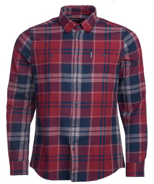 Men's Barbour Bidston Shirt - Ruby Check