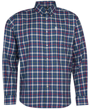 Men's Barbour Coll Thermo Weave Shirt - Navy Check