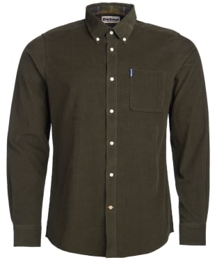 Men's Barbour Cord 2 Tailored Shirt - Forest
